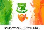 vector watercolor irish flag... | Shutterstock .eps vector #379411303