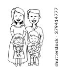 happy family of four and two... | Shutterstock .eps vector #379414777