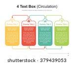 Flat business presentation vector slide template with circulation 4 text box diagram | Shutterstock vector #379439053