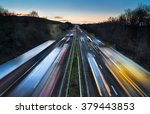 Light Trails Of Fast Moving...
