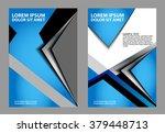 blue flyer or cover design  ... | Shutterstock .eps vector #379448713