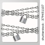 set of the gray metal chain and ... | Shutterstock .eps vector #379451107