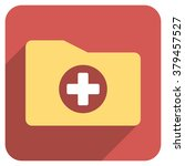 medical folder long shadow... | Shutterstock .eps vector #379457527