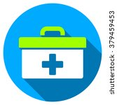 first aid toolbox long shadow... | Shutterstock .eps vector #379459453