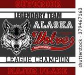 wolves t shirt graphic design | Shutterstock .eps vector #379467163
