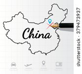 china map infographic | Shutterstock .eps vector #379473937