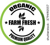 farm fresh organic  premium... | Shutterstock . vector #379490557