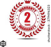 2 years warranty  label ...   Shutterstock .eps vector #379496323