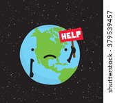 planet earth need help cartoon...   Shutterstock .eps vector #379539457
