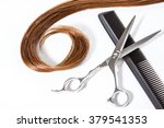Lock Of Straight Hair In Curl...