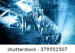 deep  blue technology... | Shutterstock . vector #379552507
