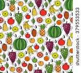 vector seamless pattern with... | Shutterstock .eps vector #379553533