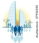 city vector | Shutterstock .eps vector #37956550