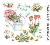 Bright Hand Drawn Spring Garde...