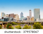 downtown atlanta  georgia on a... | Shutterstock . vector #379578067