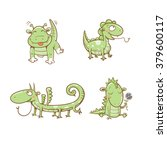 cute cartoon  little dragons...