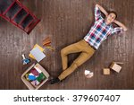 top view creative photo of...   Shutterstock . vector #379607407