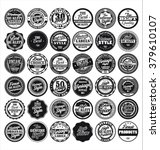 black and white vintage labels... | Shutterstock .eps vector #379610107