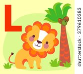 cute animal alphabet for abc... | Shutterstock .eps vector #379610383