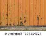 Small photo of Close-up of all-purpose textured and lined orange industrial background of a wall home container for industrial workers. Industrial, technological, orange-collar concept.