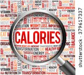 calories word cloud with... | Shutterstock . vector #379617337