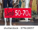 window display with red sale... | Shutterstock . vector #379618057