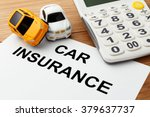 car insurance concept with... | Shutterstock . vector #379637737