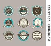set of retro coffee house... | Shutterstock .eps vector #379637893