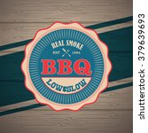 barbecue bbq logo  stamp  retro ... | Shutterstock .eps vector #379639693