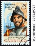 usa   circa 1992  a stamp... | Shutterstock . vector #379639717