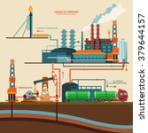 oil recovery  oil rig  oil...   Shutterstock .eps vector #379644157
