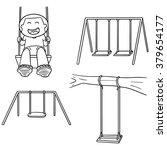 vector set of swing | Shutterstock .eps vector #379654177