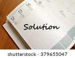 solution text concept write on... | Shutterstock . vector #379655047