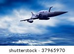 military airplan on the speed | Shutterstock . vector #37965970