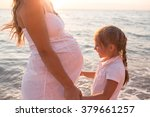 beautiful pregnant girl ... | Shutterstock . vector #379661257