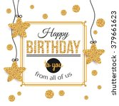 birthday background with gold... | Shutterstock .eps vector #379661623
