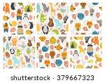 Set Of Cartoon Animals...