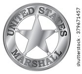 u. s. marshall badge is an... | Shutterstock .eps vector #379671457
