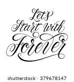 let's start with forever.... | Shutterstock .eps vector #379678147