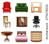 furniture icons detailed photo... | Shutterstock .eps vector #379678333