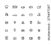 25 outline cooking icons this... | Shutterstock .eps vector #379697287