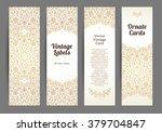 vector set of ornate vertical...   Shutterstock .eps vector #379704847