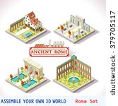 isometric building ancient rome ... | Shutterstock . vector #379705117