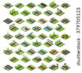 flat 3d isometric street game... | Shutterstock . vector #379705123