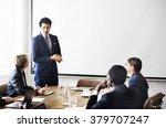 business team meeting working... | Shutterstock . vector #379707247