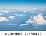 clouds in blue sky  aerial view ...   Shutterstock . vector #379708597