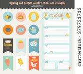 cute calendar weekly planner... | Shutterstock .eps vector #379721713