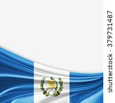 guatemala flag of silk with... | Shutterstock . vector #379731487