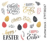 hand written easter phrases in... | Shutterstock .eps vector #379738267