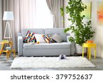 living room interior with sofa  ... | Shutterstock . vector #379752637